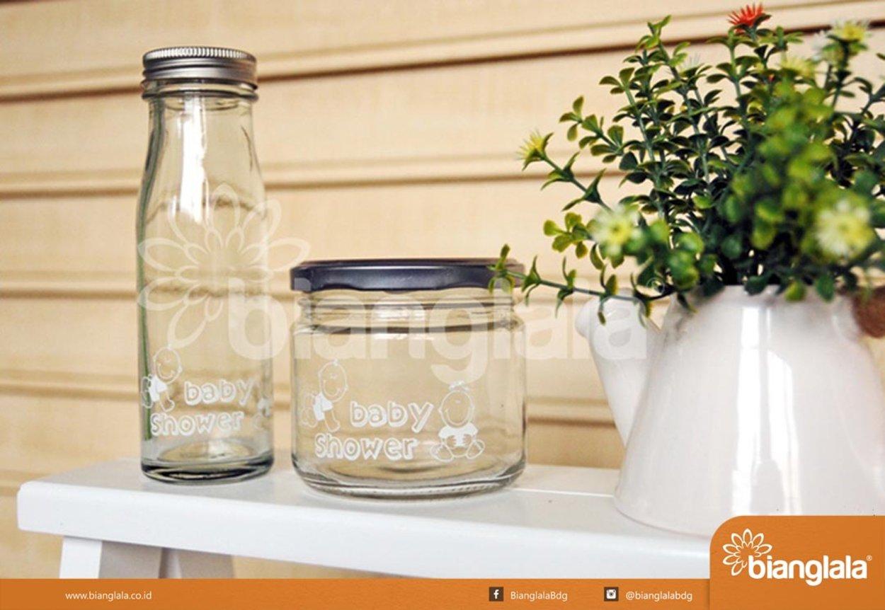 botol kaca jar  baby shower