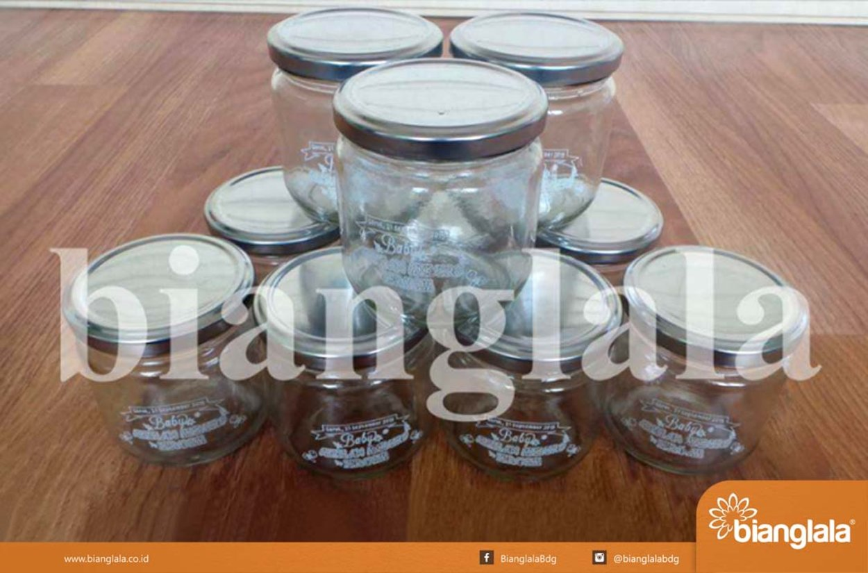 Jar mini kaca souvenir akikah copy