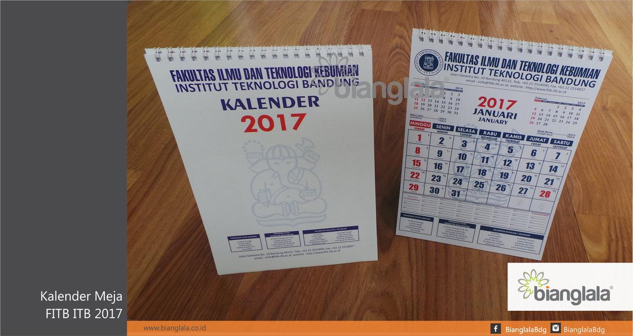 KALENDER MEJA FITB 2017