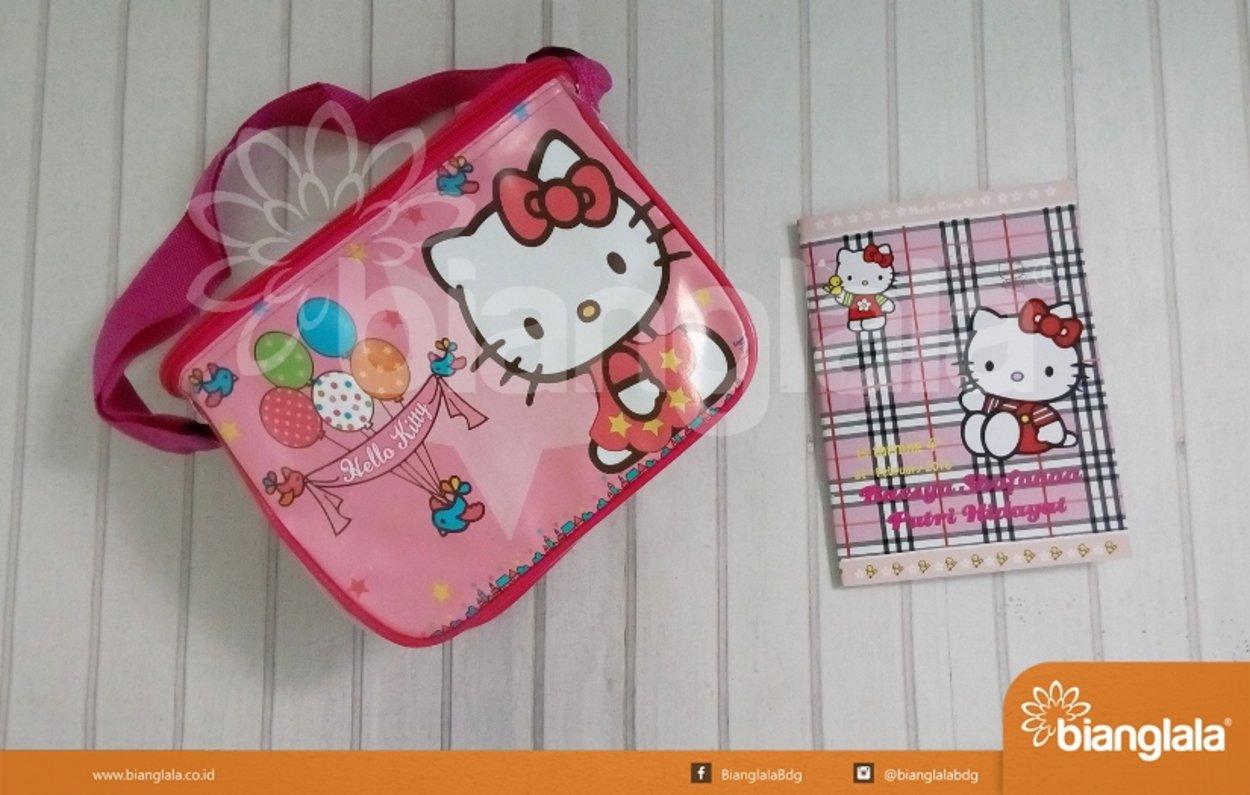 Paket Souvenir Ulang Tahun Tema Hello Kitty Tas Buku Tulis Paket
