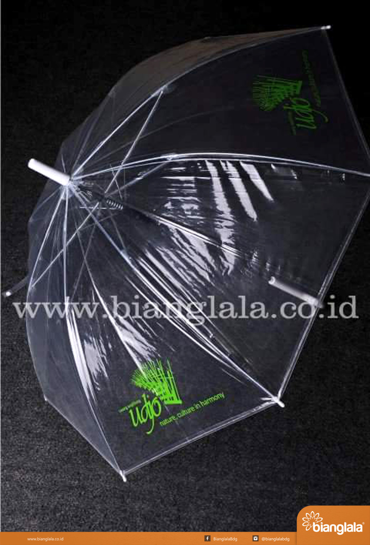 payung transparan Saung Udjo