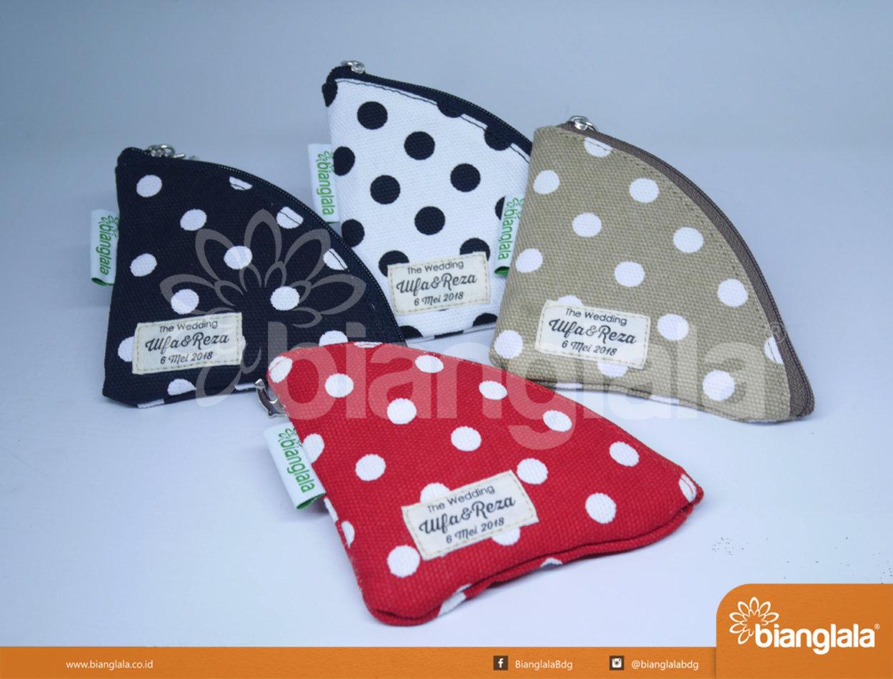 pouch bag mini polka dot
