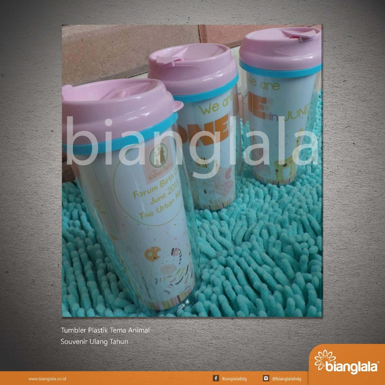 SMALL tumbler plastik tema animal