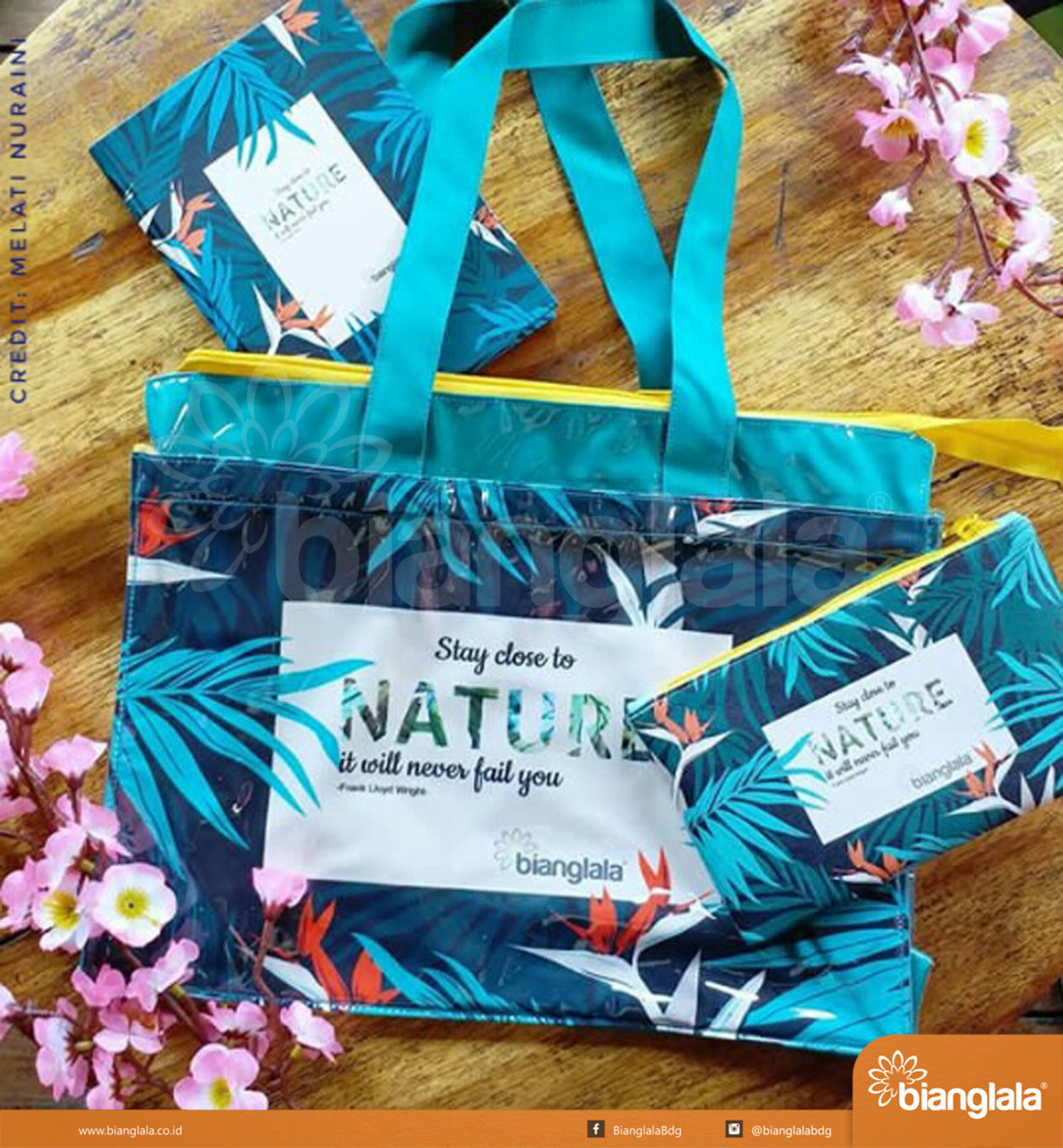 tote bag pouch notes nature