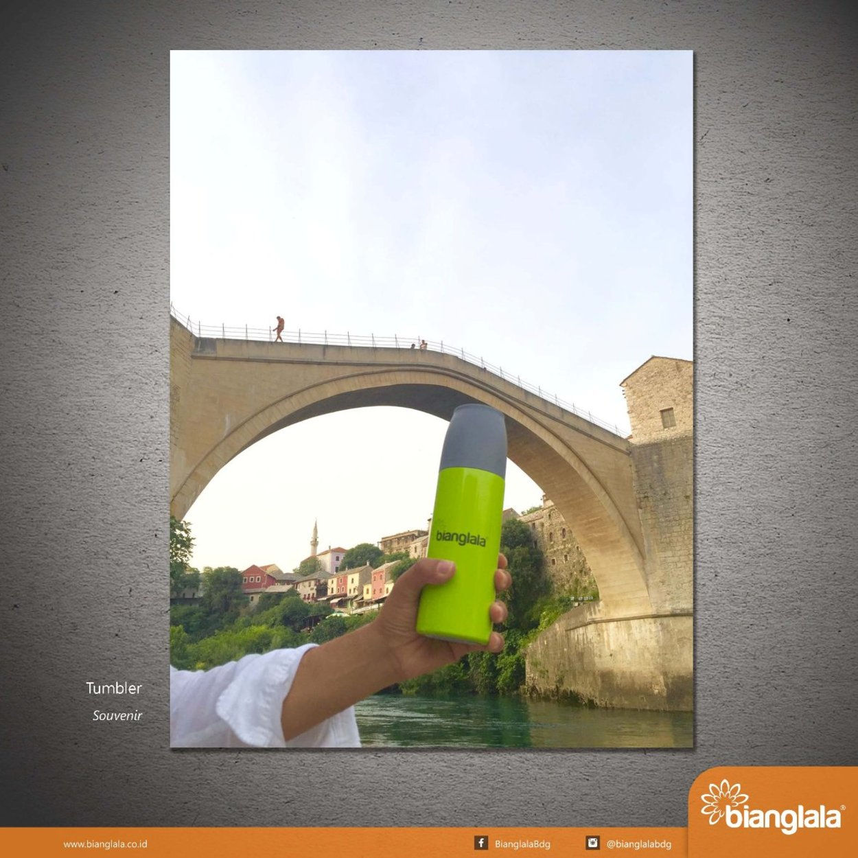 tumbler bianglala at mostar bridge