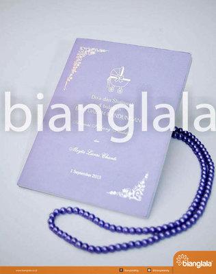 buku pengajian syukuran hamil 4 bln soft cover ungu