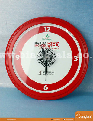 jam dinding Papua Red Wonder