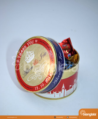 kaleng bulat (souvenir pernikahan)1