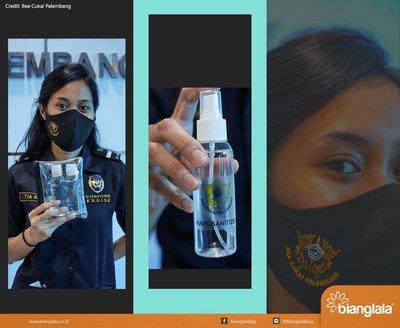 masker handsani bea cukai palembang3
