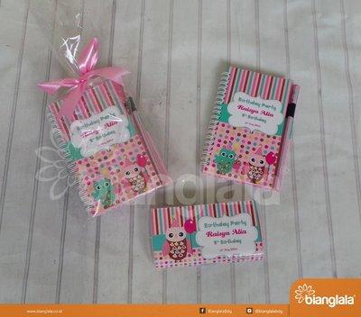 paket ultah tema pink owl
