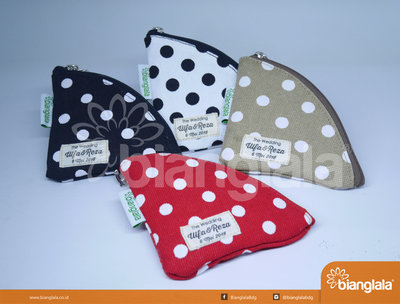 pouch bag mini polka dot