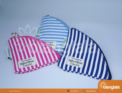 pouch bag mini striped 1