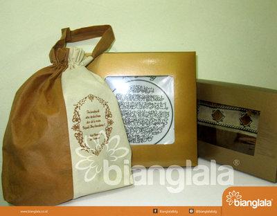 souvenir pengajian (kaligrafi sajadah)