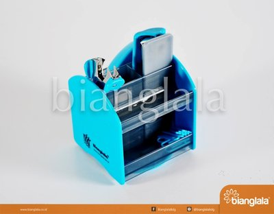 stapler stationary set biru 2