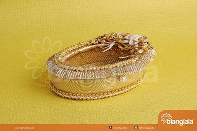 tempat perhiasan round gold 1