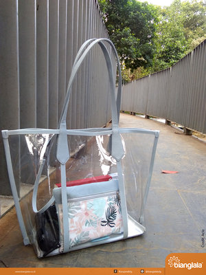 tote bag transparan grey 4