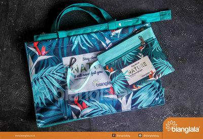 totebag n pouch leaves motif1