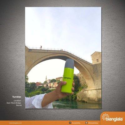 tumbler at stari most bridge bosnia