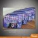 SMALL pouch bag  frozen in purple