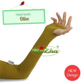 hand-socks-olive